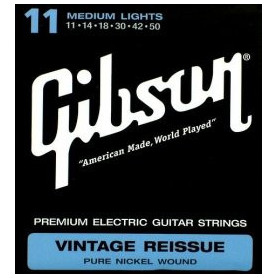 GIBSON SEG-VR11 VINTAGE RE-ISSUE PURE NICKEL WOUND .011-.050 Струны для электрогитары фото