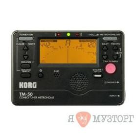 KORG TMR 50 BK Цифровой компактный тюнер-метроном- фото