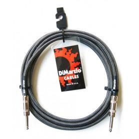 DIMARZIO EP1710SS INSTRUMENT CABLE 10ft (BLACK GREY) Кабель гитарный фото