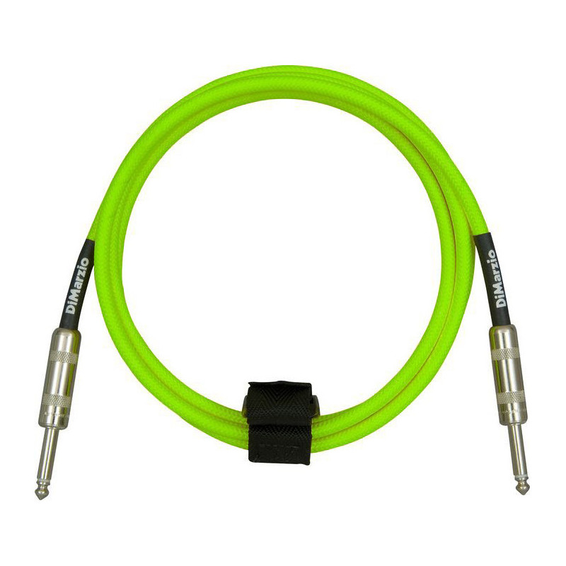 DIMARZIO EP1710SS INSTRUMENT CABLE 10ft (NEON GREEN) Кабель гитарный фото