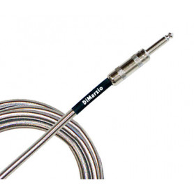DIMARZIO EP1710SSSM METALLIC INSTRUMENT CABLE 10ft (CHROME) Кабель гитарный фото