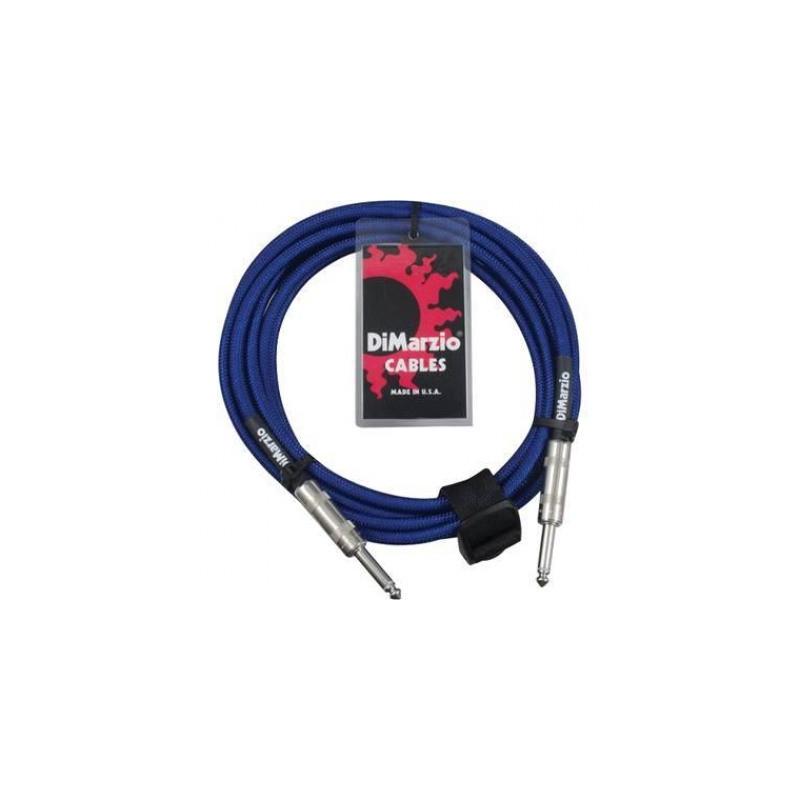 DIMARZIO EP1715SS INSTRUMENT CABLE 15ft (ELECTRIC BLUE) Кабель гитарный фото