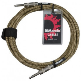 DIMARZIO EP1715SS INSTRUMENT CABLE 15ft (VINTAGE TWEED) Кабель гитарный фото