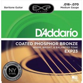 D`ADDARIO EXP23 EXP PHOSPHOR BRONZE BARITONE 16-70 Струны для гитары фото