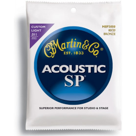 MARTIN MSP3050 SP Acoustic 80/20 Bronze Custom Light (11-52) Струны для гитары фото