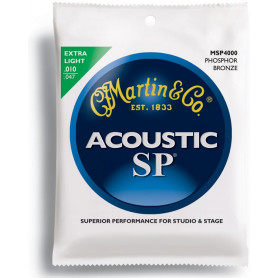 MARTIN MSP4000 SP Acoustic 92/8 Phosphor Bronze Extra Light (10-47) Струны для гитары фото
