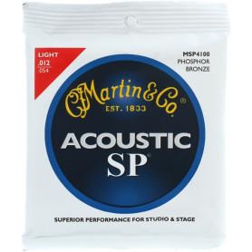 MARTIN MSP4100 SP Acoustic 92/8 Phosphor Bronze Light (12-54) Струны для гитары фото