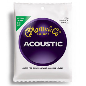 MARTIN M530 Traditional Acoustic 92/8 Phosphor Bronze Extra Light (10-47) Струны для гитары фото