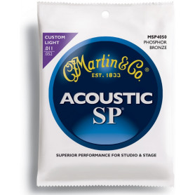 MARTIN MSP4050 SP Acoustic 92/8 Phosphor Bronze Custom Light (11-52) Струны для гитары фото