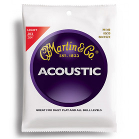 MARTIN M140X Traditional Acoustic 80/20 Bronze Light (12-54) Струны для гитары фото