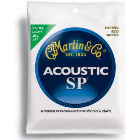 MARTIN MSP3000 SP Acoustic 80/20 Bronze Extra Light (10-47) Струны для гитары фото