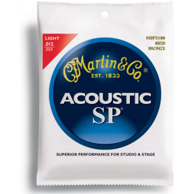 MARTIN MSP3100 SP Acoustic 80/20 Bronze Light (12-54) Струны для гитары фото