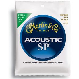 MARTIN MSP3600 SP Acoustic 80/20 Bronze Extra Light 12 String (10-47) Струны для 12-струнной гитары фото