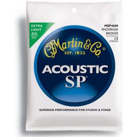 MARTIN MSP4600 SP Acoustic 92/8 Phosphor Bronze Extra Light 12 String (10-47) Струны для 12-струнной гитары фото