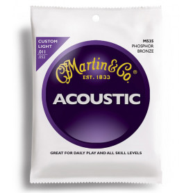MARTIN M535 Traditional Acoustic 92/8 Phosphor Bronze Custom Light (11-52) Струны для гитары фото