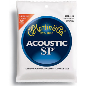MARTIN MSP4150 SP Acoustic 92/8 Phosphor Bronze Light/Med (12.5-55) Струны для гитары фото