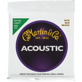 MARTIN M170X Traditional Acoustic 80/20 Bronze Extra Light (10-47) Струны для гитары фото