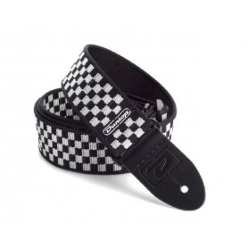 DUNLOP D3831 BK BLACK AND WHITE CHECK Ремень фото