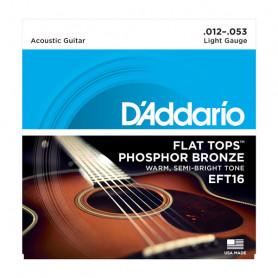 D`ADDARIO EFT16 FLAT TOPS LIGHT 12-53 Струны для акустической гитары фото