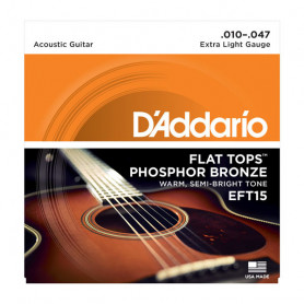 D`ADDARIO EFT15 FLAT TOPS EXTRA LIGHT 10-47 Струны для акустической гитары фото
