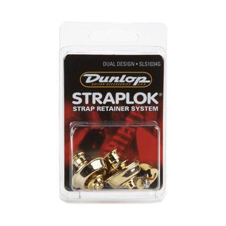 DUNLOP SLS1034G DUAL DESIGN GOLD Стреплоки для ремней фото