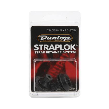 DUNLOP SLS1503BK TRADITIONAL DESIGN BLACK Стреплоки для ремней фото