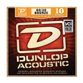 DUNLOP DAB1048 80/20 BRONZE EXTRA LIGHT (10-48) Струны фото