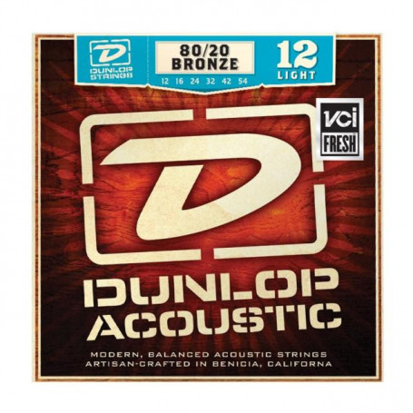 DUNLOP DAB1254 80/20 BRONZE LIGHT (12-54) Струны фото