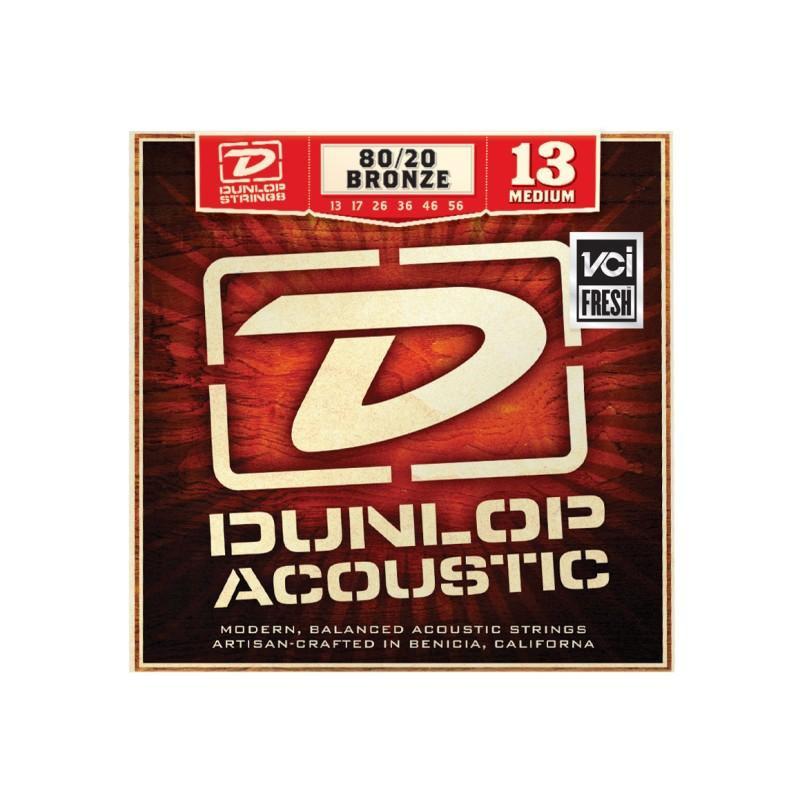 DUNLOP DAB1356 80/20 BRONZE MEDIUM (13-56) Струны фото