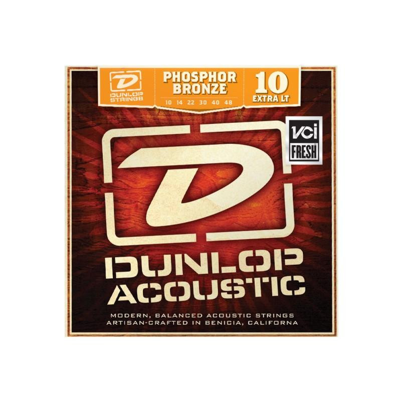 DUNLOP DAP1048 PHOSPHOR BRONZE EXTRA LIGHT (10-48) Струны фото