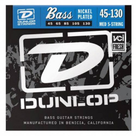 DUNLOP DBN2025 NICKEL PLATED STEEL LIGHT 5 STRING 45-130 Струны фото