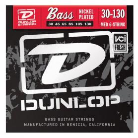DUNLOP DBN30130 NICKEL PLATED STEEL MEDIUM 6 STRING (30-130) Струны фото