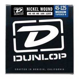 DUNLOP DBN45125T NICKEL PLATED STEEL MEDIUM 5 TAPERED B 45-125 Струны фото