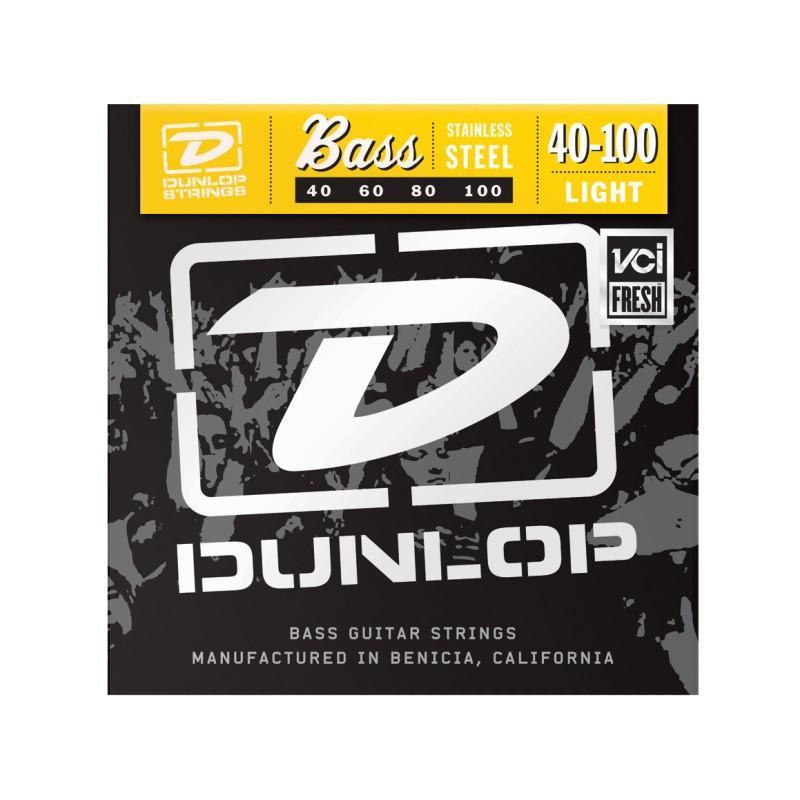 DUNLOP DBS40100 STAINLESS STEEL LIGHT 40-100 Струны фото