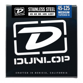 DUNLOP DBS45125T STAINLESS STEEL MEDIUM 5 TAPERED B 45-125 Струны фото
