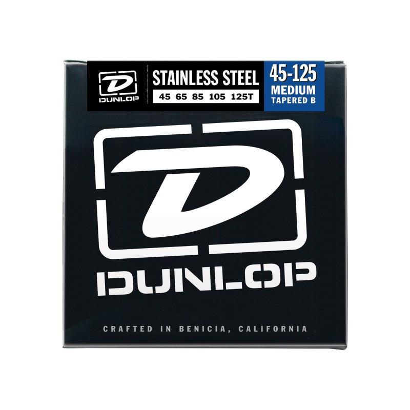 DUNLOP DBS45125T STAINLESS STEEL MEDIUM 5 TAPERED B 45-125 Струны фото