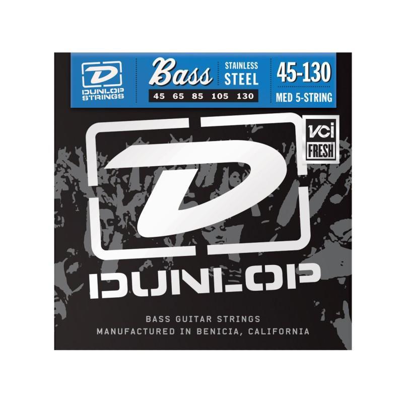 DUNLOP DBS45130 STAINLESS STEEL MEDIUM 5 STRING 45-130 Струны фото