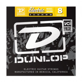 DUNLOP DEN0838 ELECTRIC EXTRA LIGHT 8 Струны фото