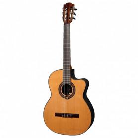 Электроакустическая гитара с нейлоновыми струнами Lag Occitania OC300CE фото
