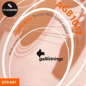 Струны для акустической гитары Galli PROcoated AGB1047-12 (12-47) 12-Strings Light фото