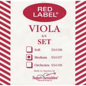 Струны для альта SUPER-SENSITIVE SS4107 Red Label Viola set standart 15-16 1/2 (medium) фото