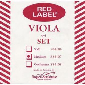 Струны для альта SUPER-SENSITIVE SS4107 Red Label Viola set standart 15-16 1/2 (medium) фото