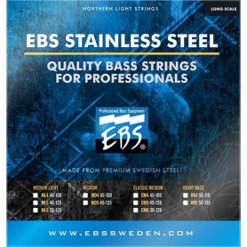 Струны для бас-гитары EBS SS-MD 5-strings (45-125) Stainless Steel фото