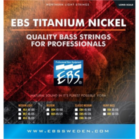 Струны для бас-гитары EBS TN-HB 4-strings (50-110) Titanium Nickel фото