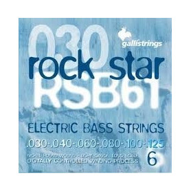 Струны для бас-гитары Galli Rock Star RSB61 (30-125) Nickel 6-Strings Long Scale Light фото
