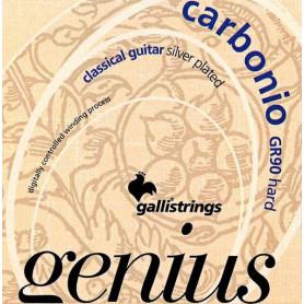 Струны для классической гитары Galli Genius Carbonio PROcoated GR90 (24-45) Hard Tension фото