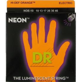 Струны для электрогитары DR NOE-10 NEON Hi-Def (10-46) Medium фото