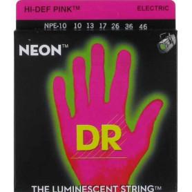 Струны для электрогитары DR NPE-10 NEON Hi-Def (10-46) Medium фото