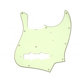 Пикгард для бас-гитар FENDER PICKGUARD JAZZ BASS 11-HOLE VINTAGE MOUNT (with truss rod notch) MINT GREEN фото
