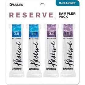 D`ADDARIO Reserve Reed Sampler Pack Filed - Bb Clarinet 3.0/3.5 Трости для духовых фото